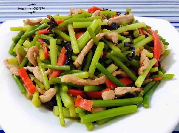 蒜苔炒肉丝怎样煮