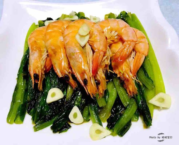 油麦菜炒虾怎么炖