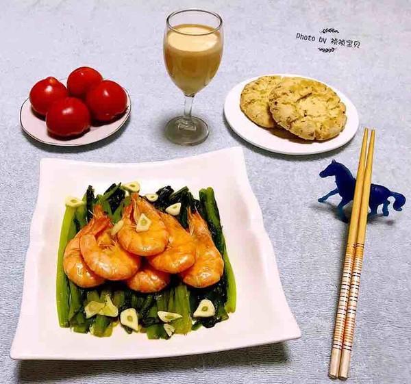 油麦菜炒虾怎样做