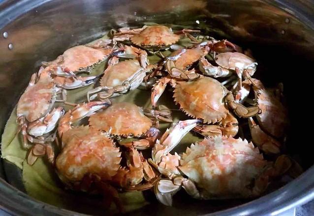 清蒸花盖蟹的步骤