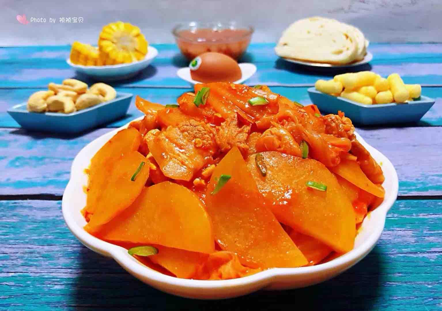 五花肉辣白菜炒土豆片怎样煮
