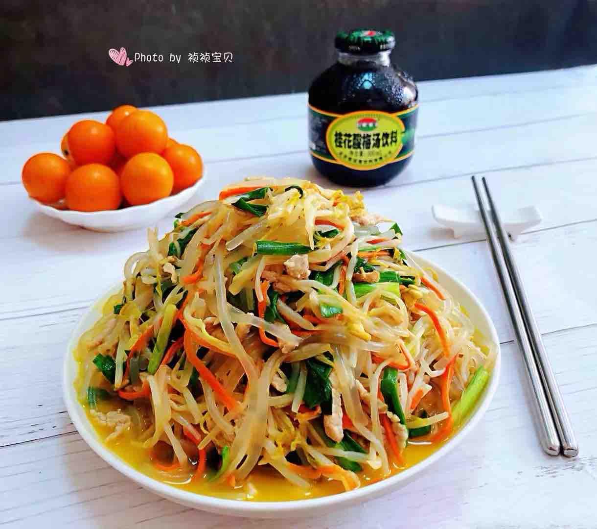 韭菜粉条炒豆芽怎样煮