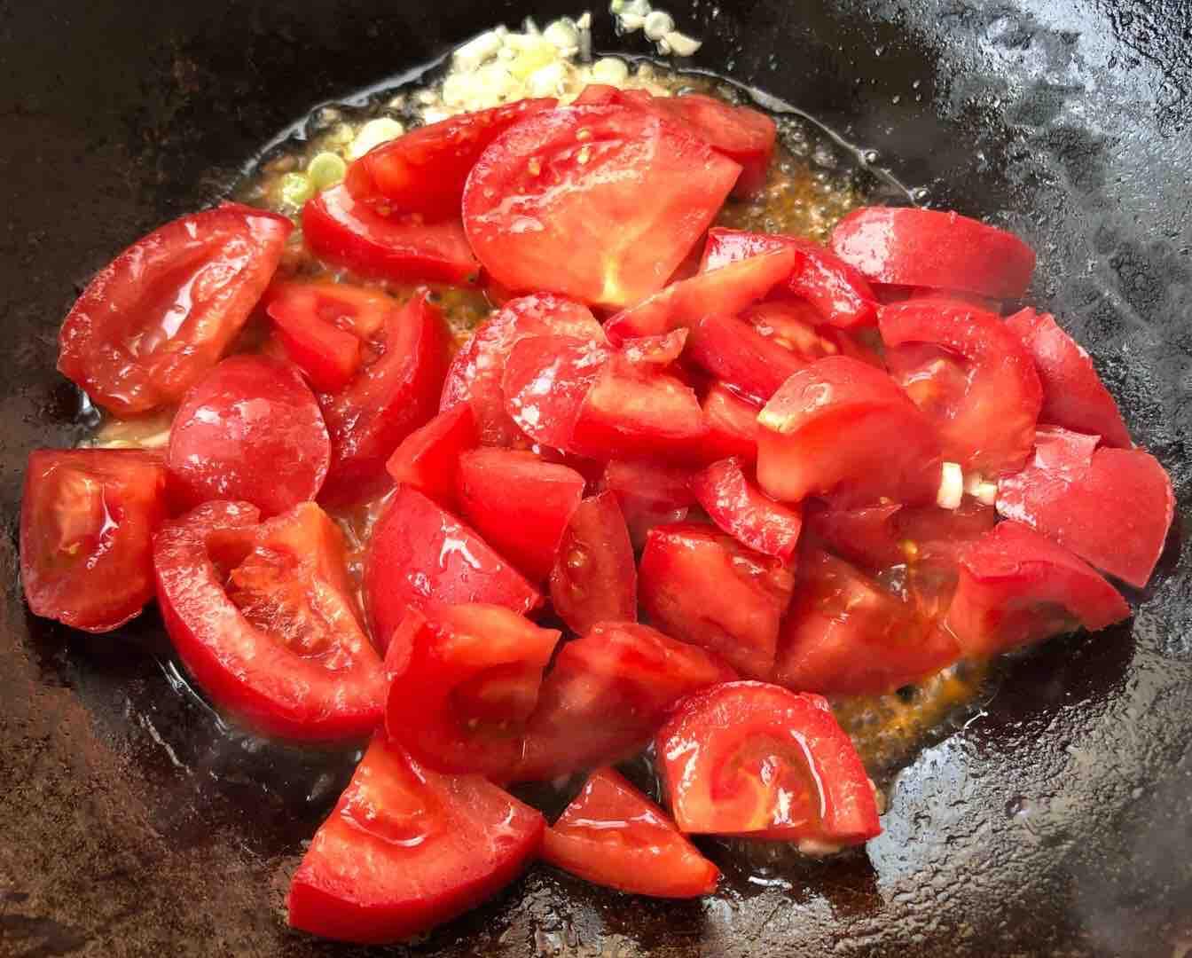 番茄炒丝瓜怎么吃