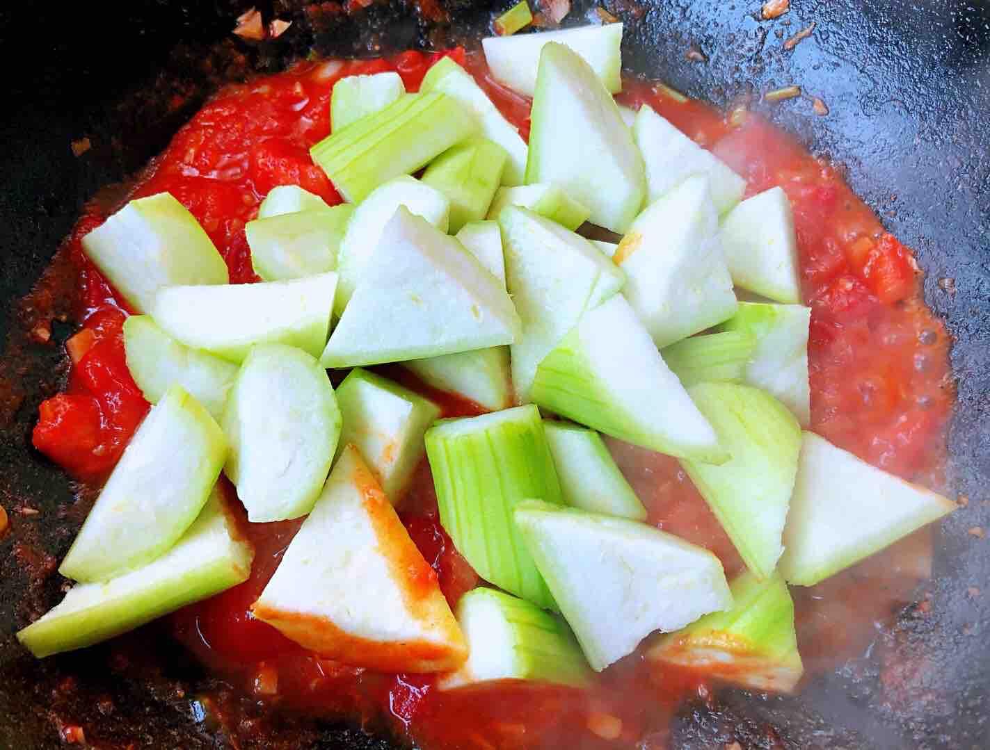 番茄炒丝瓜怎么炒