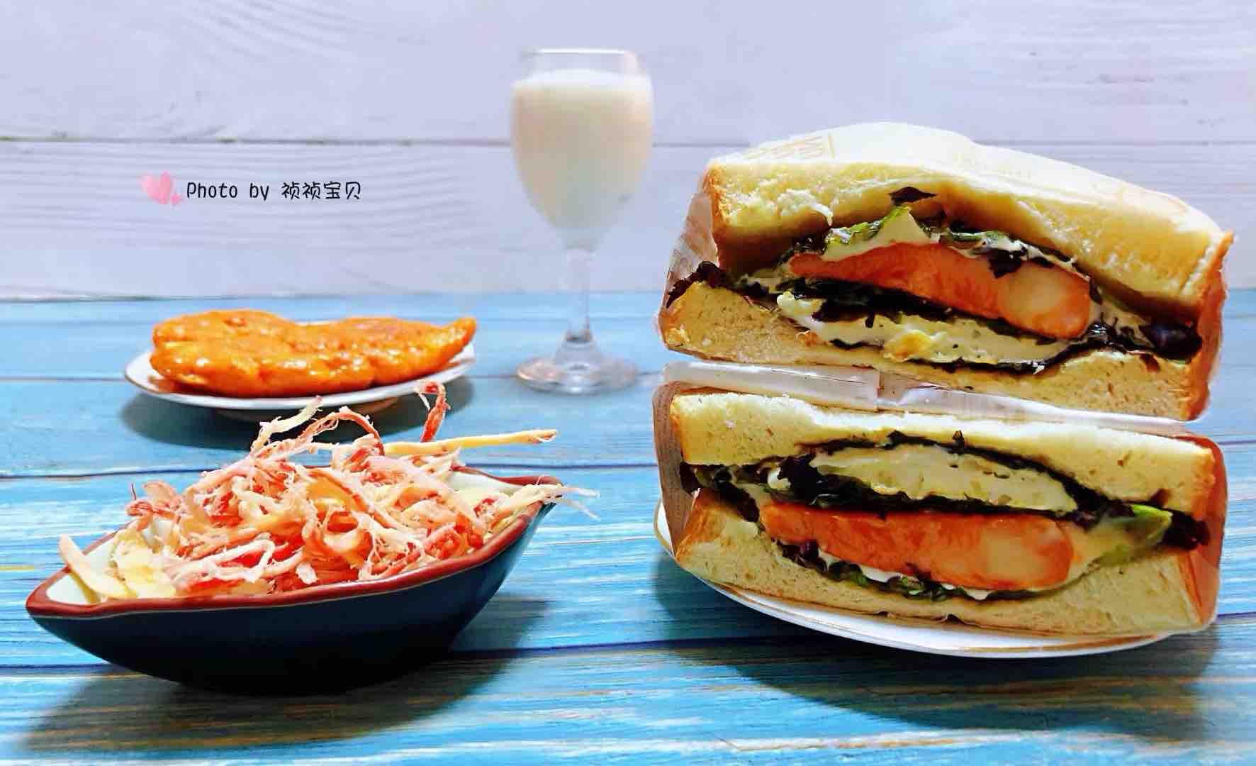 鸡排吐司三明治怎样煸