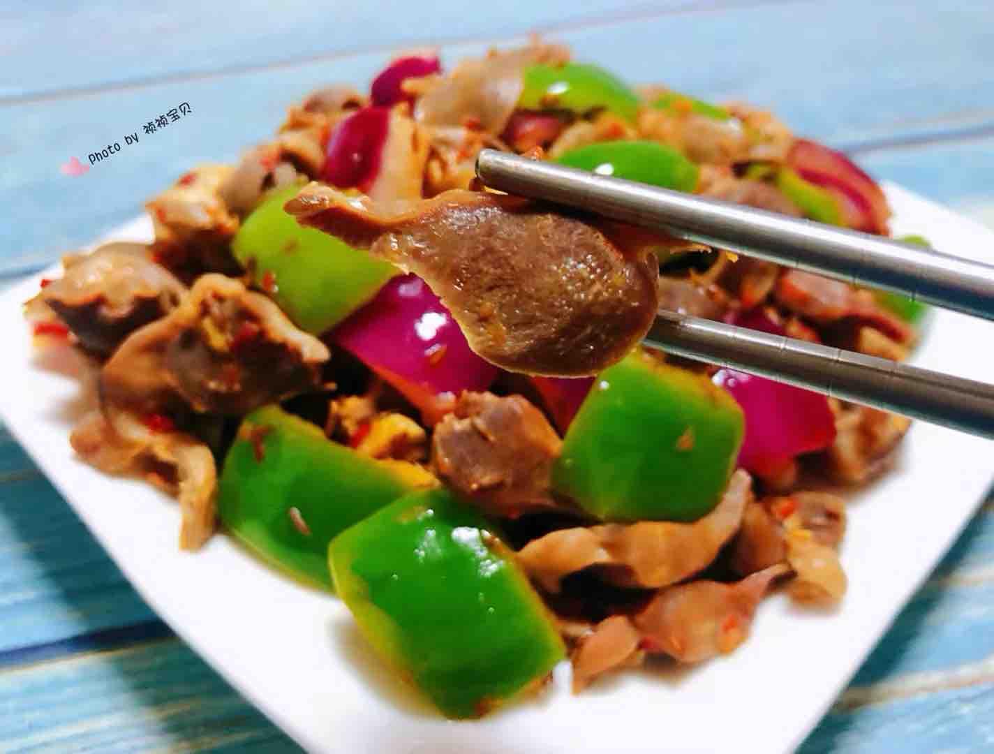 孜然青椒炒鸡胗怎样煮
