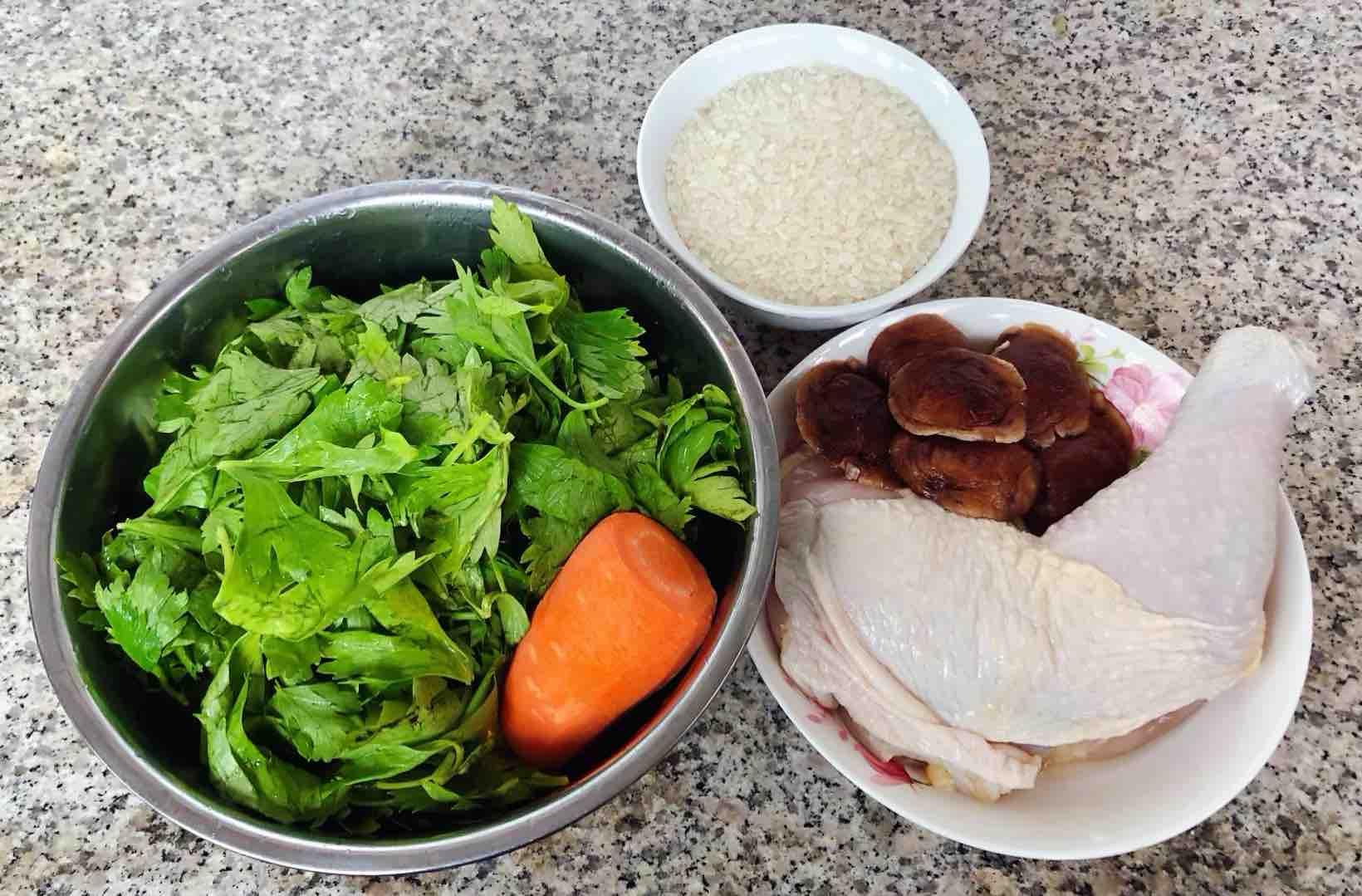 鸡腿香菇芹菜粥的做法大全