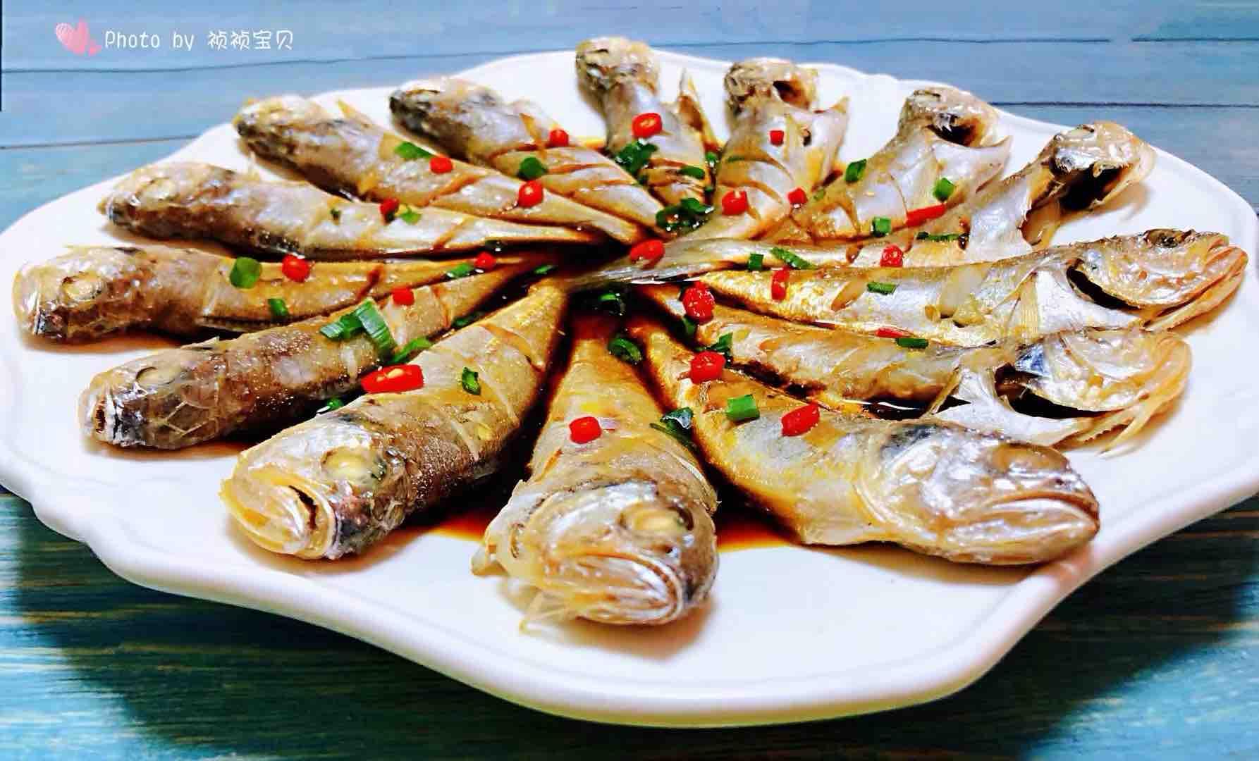 清蒸黄花鱼成品图