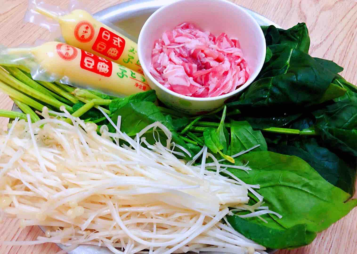 肥羊菠菜金针菇豆腐汤的做法大全