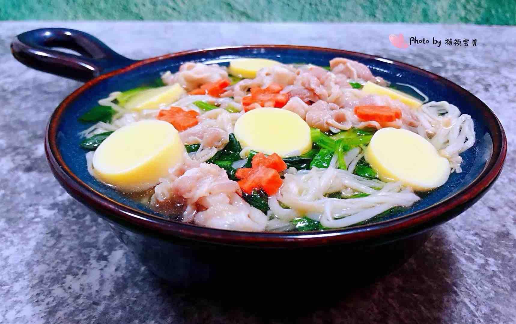 肥羊菠菜金针菇豆腐汤怎样煸