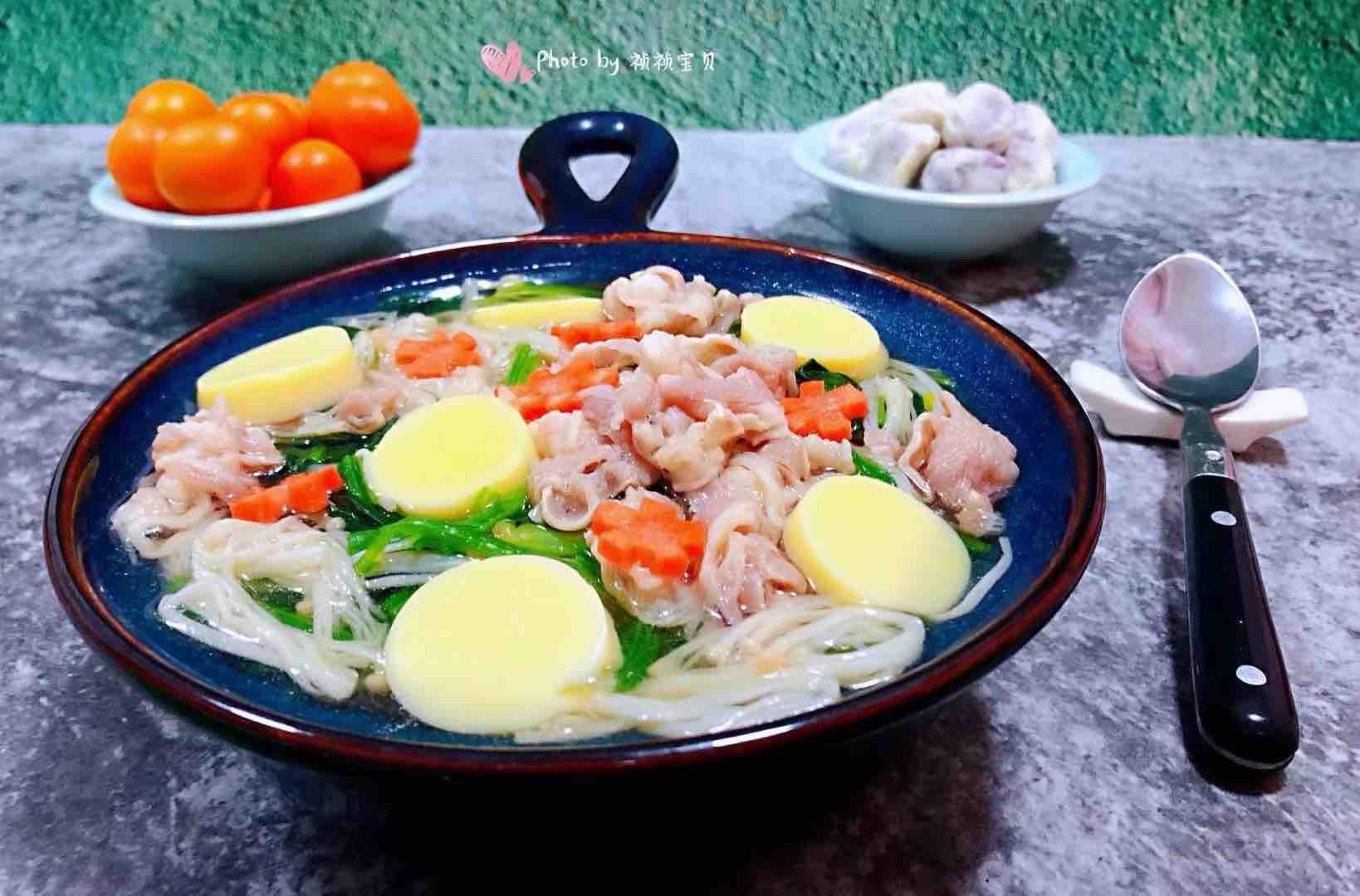 肥羊菠菜金针菇豆腐汤怎样做