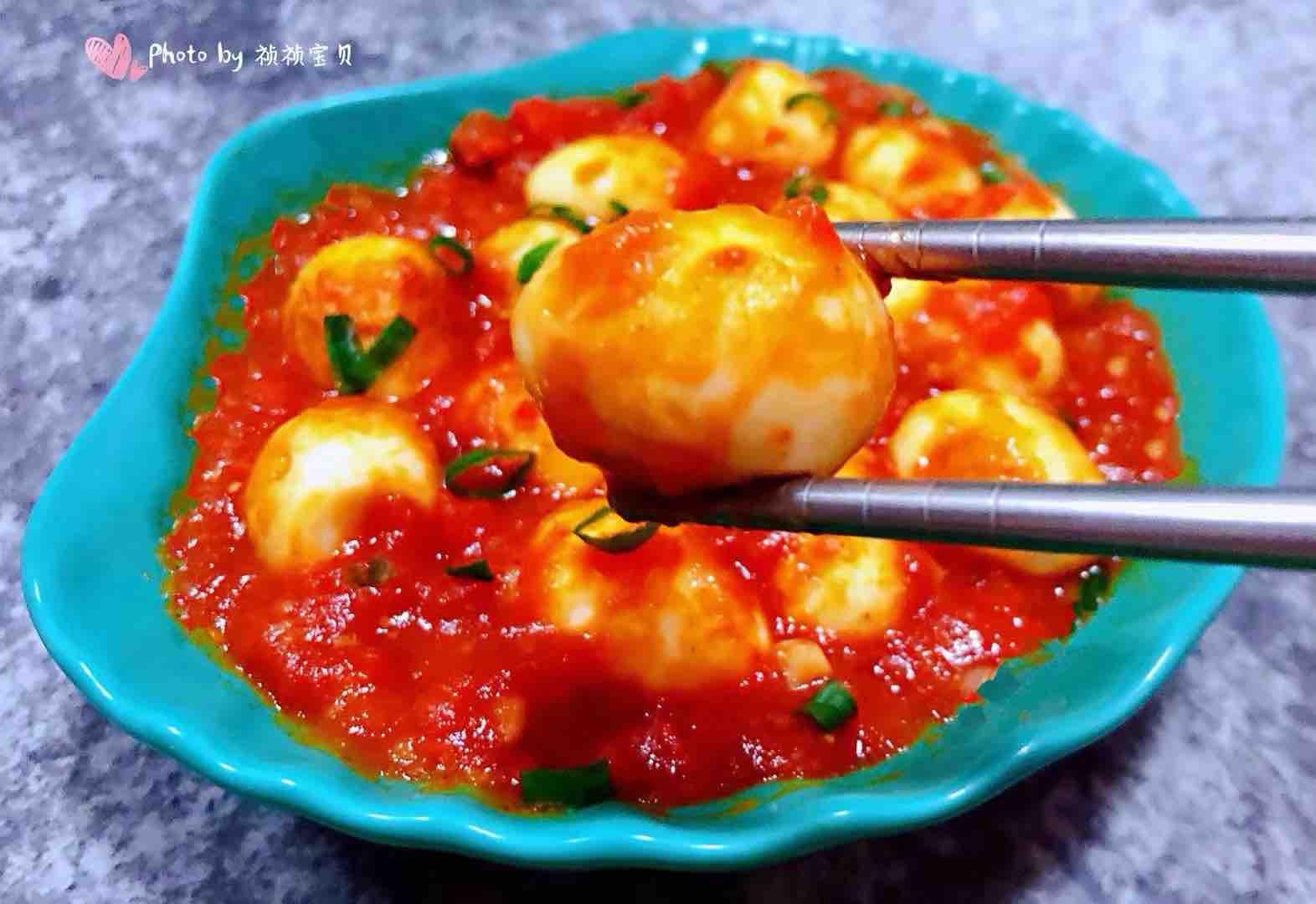 茄汁鹌鹑蛋怎样做
