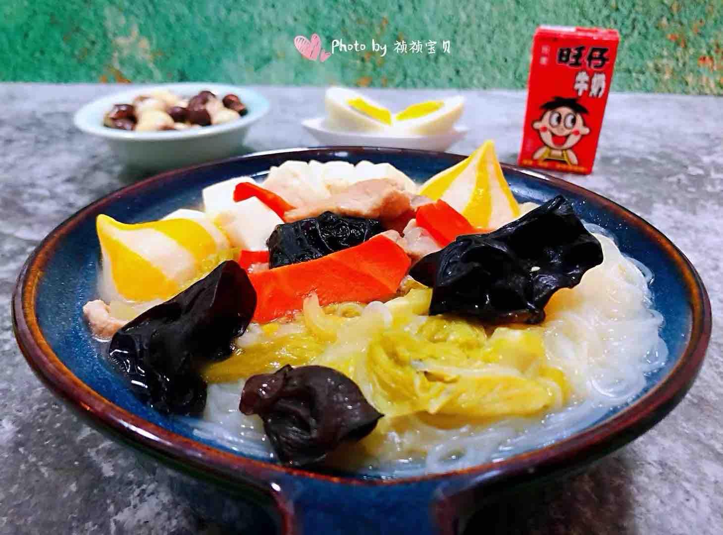 猪肉白菜海胆丸豆腐粉丝汤怎样炒