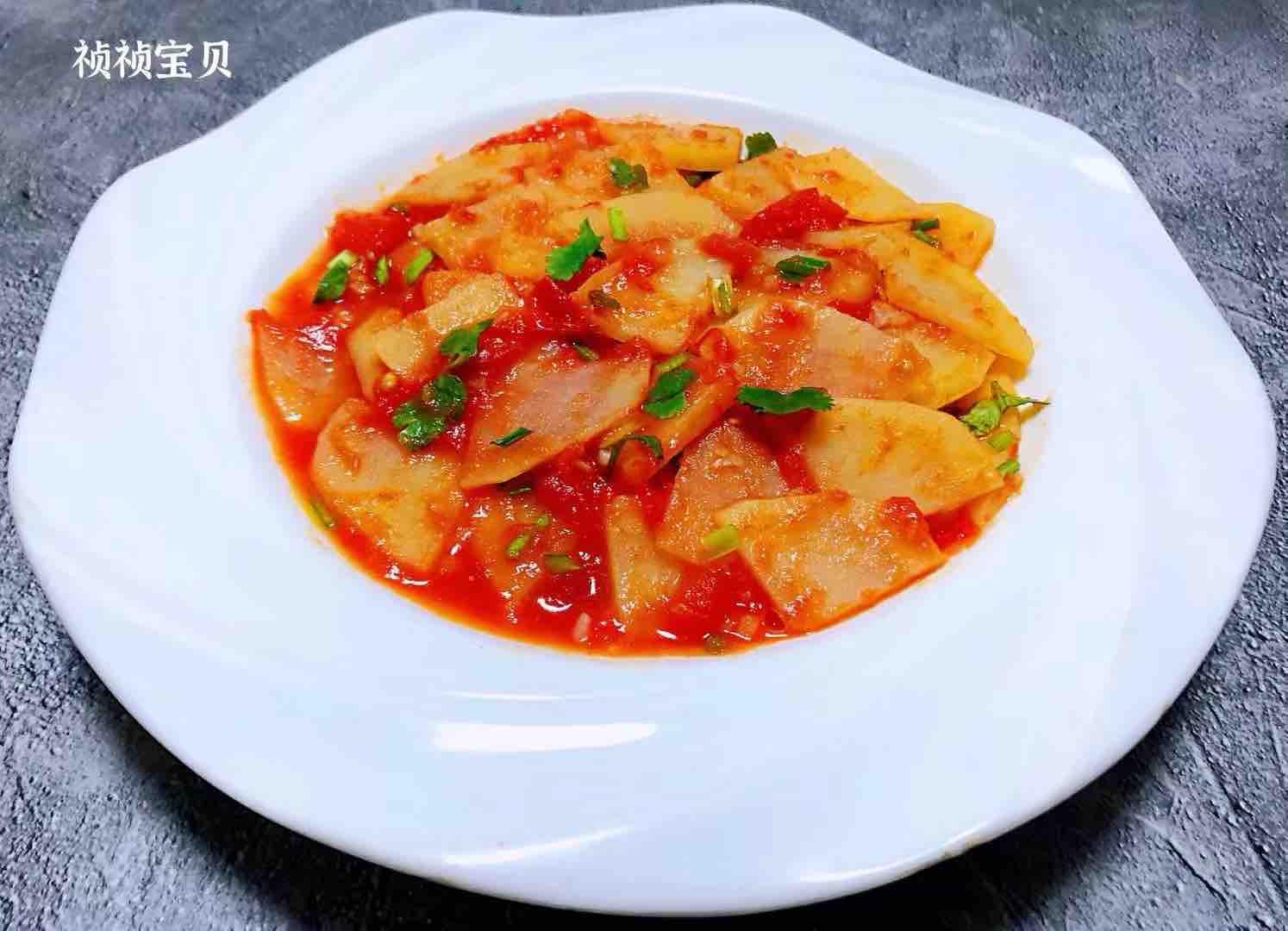 西红柿炒土豆片怎样煸