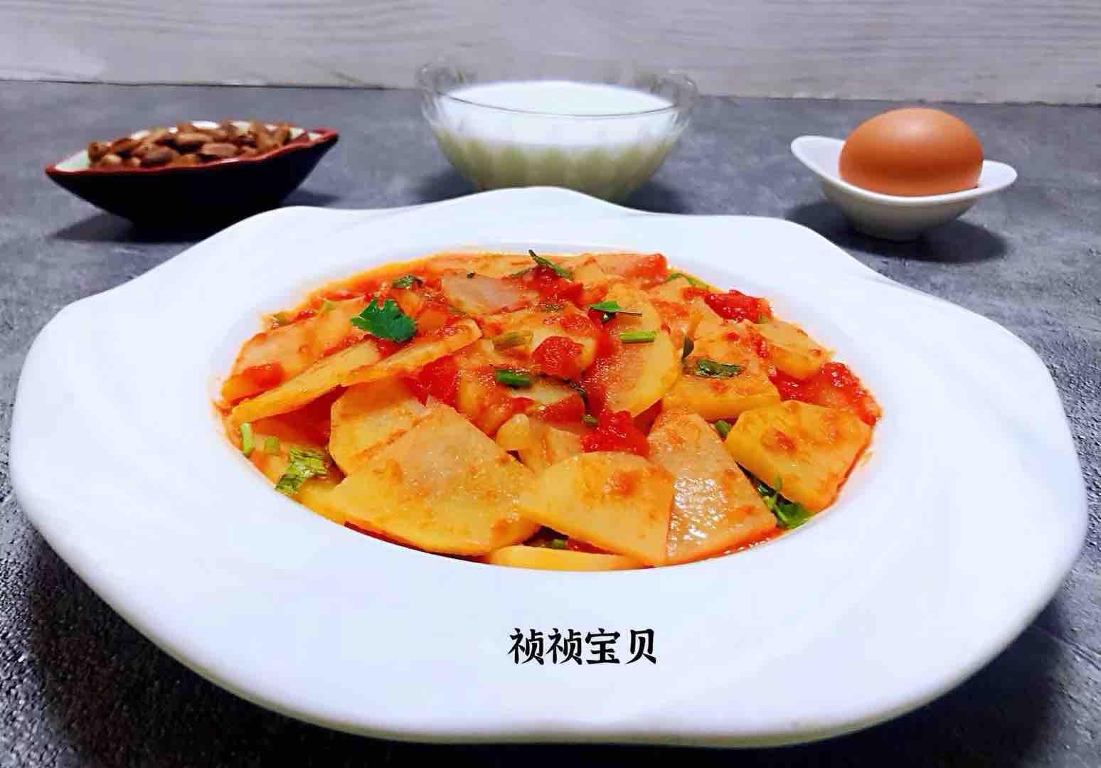 西红柿炒土豆片怎样炒