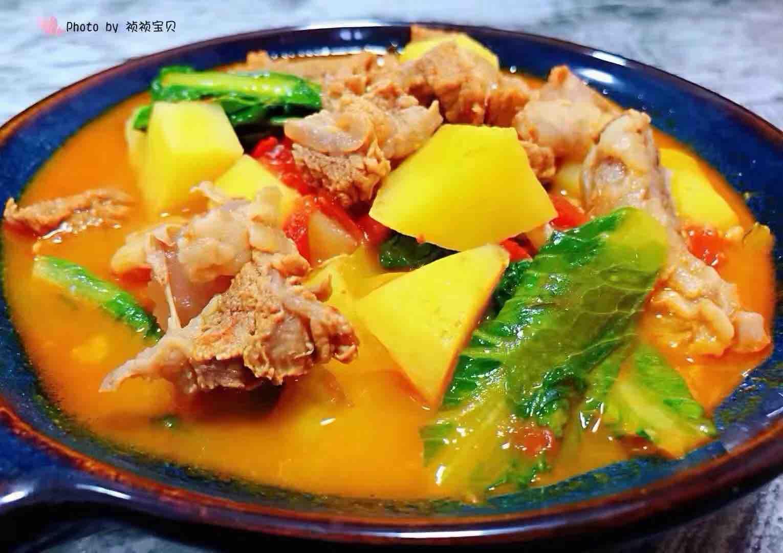 西红柿土豆青菜炖牛肉怎样炒