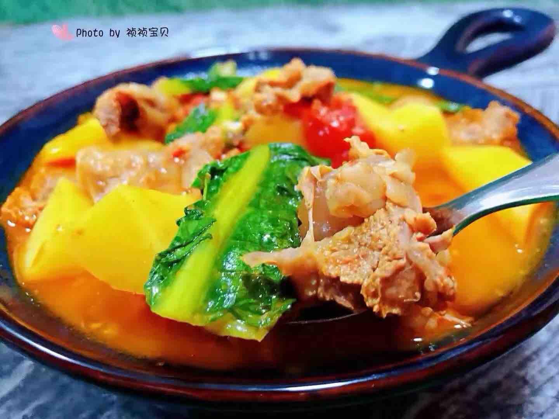 西红柿土豆青菜炖牛肉怎样炖