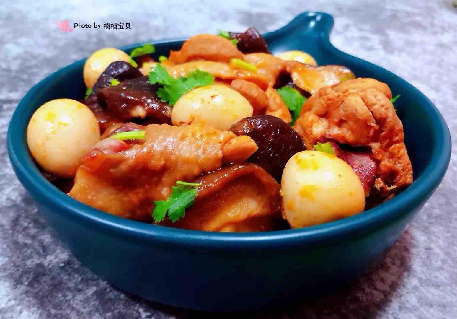 香菇鹌鹑蛋炖鸡腿怎样煸