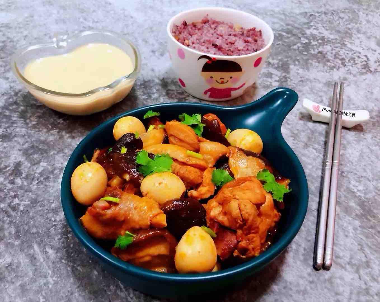 香菇鹌鹑蛋炖鸡腿怎样煮