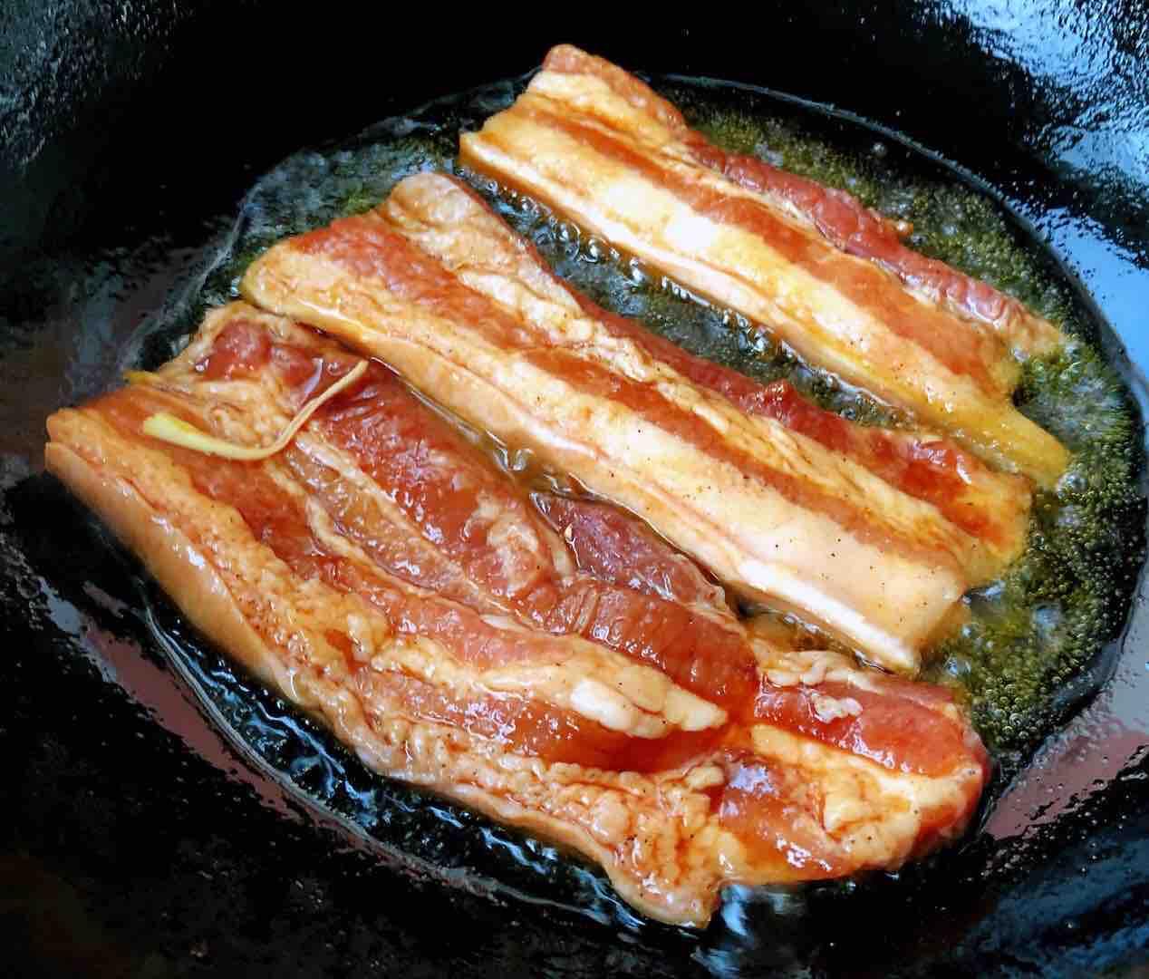 香煎五花肉的步骤