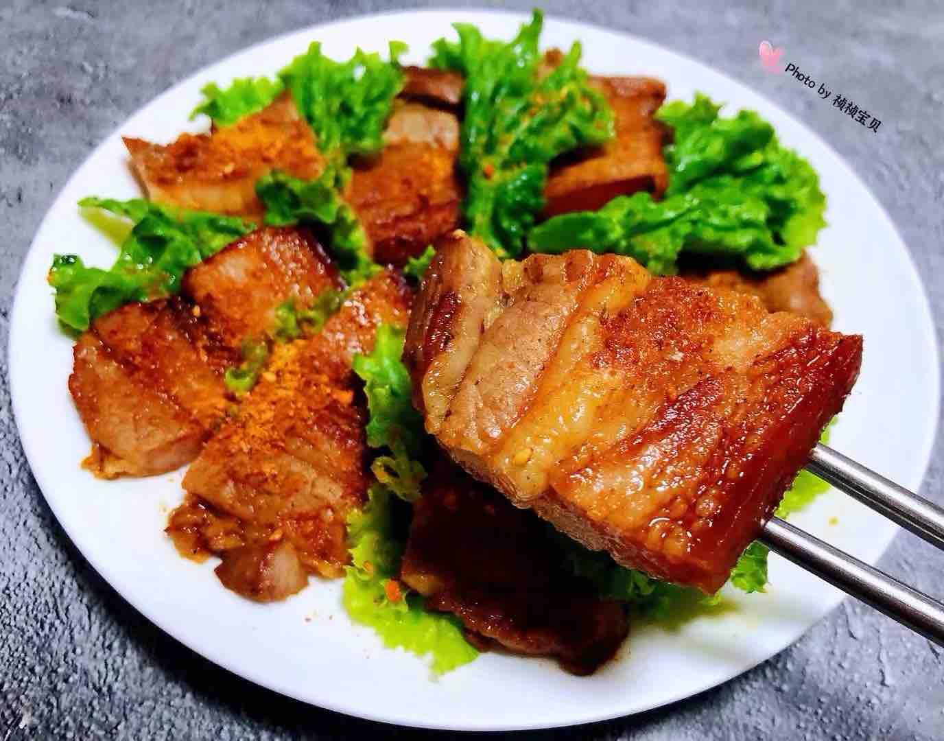 香煎五花肉成品图
