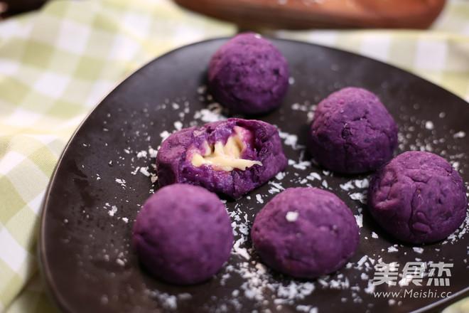 芝士紫薯球成品图