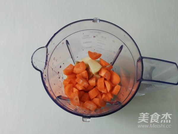 鲜榨果汁胡萝卜苹果汁的家常做法