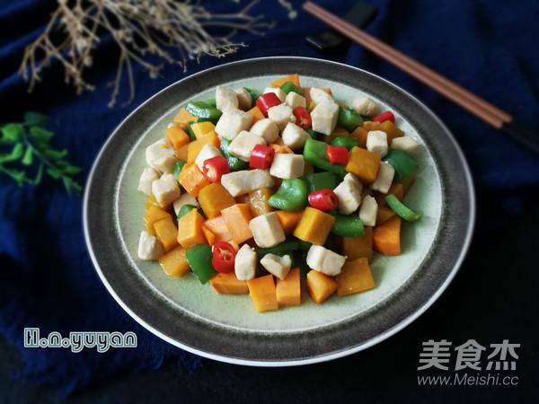 五彩时蔬炒鸡丁怎么煮