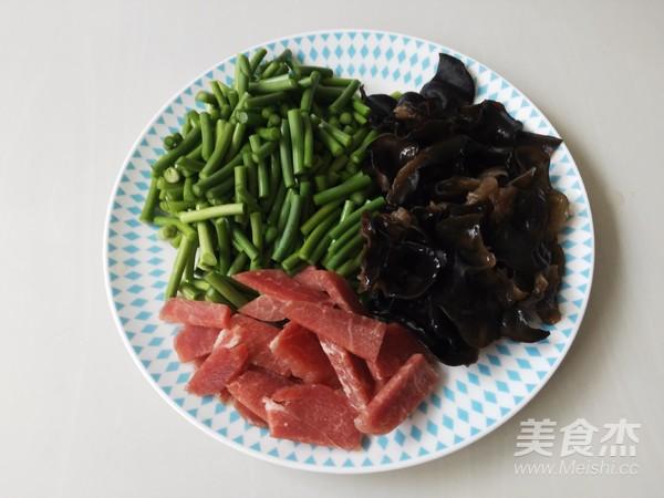 蒜台木耳炒肉的做法图解