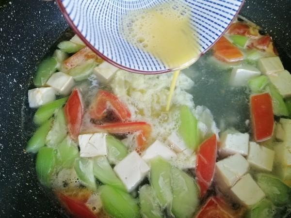 丝瓜豆腐蛋花汤怎么吃