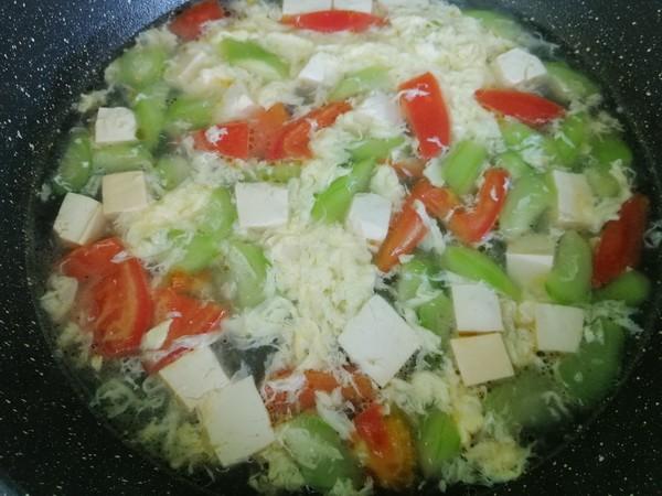 丝瓜豆腐蛋花汤怎么做