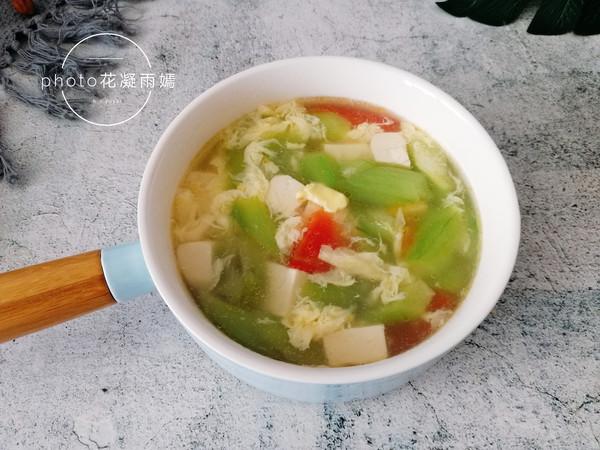 丝瓜豆腐蛋花汤怎么炒