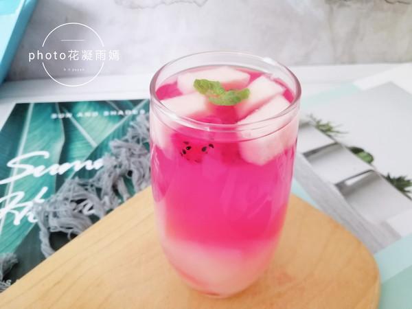 蜜桃火龙果饮怎么做