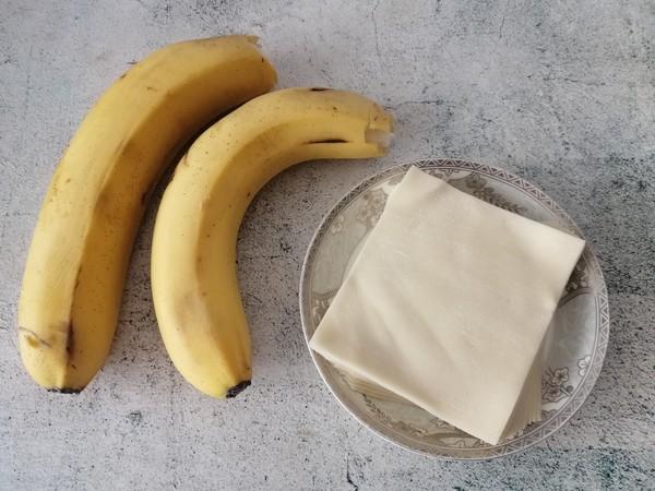 馄饨皮版香蕉派的做法大全