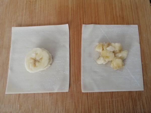 馄饨皮版香蕉派的家常做法