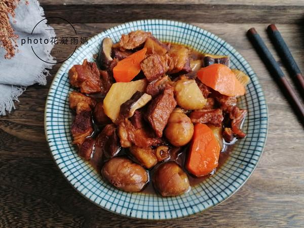 土豆板栗炖牛肉怎么炖