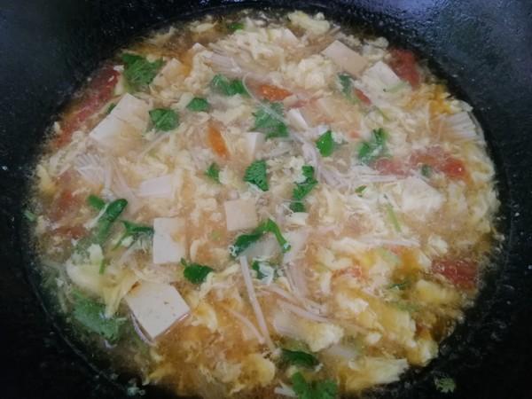 豆腐西红柿鸡蛋汤怎么炒