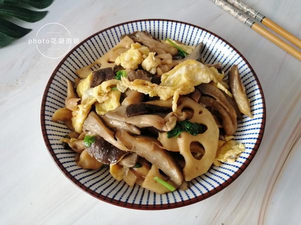 蘑菇藕片炒鸡蛋怎么煮