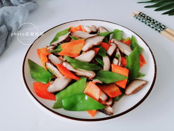 香菇炒荷兰豆怎么炖