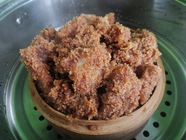 南瓜粉蒸肉的步骤