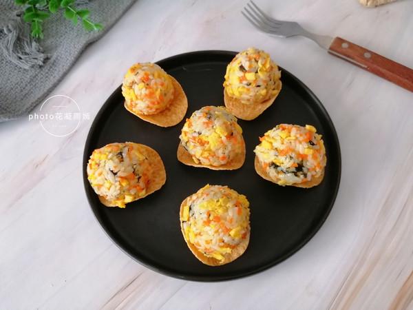 薯片海苔饭团怎么炒