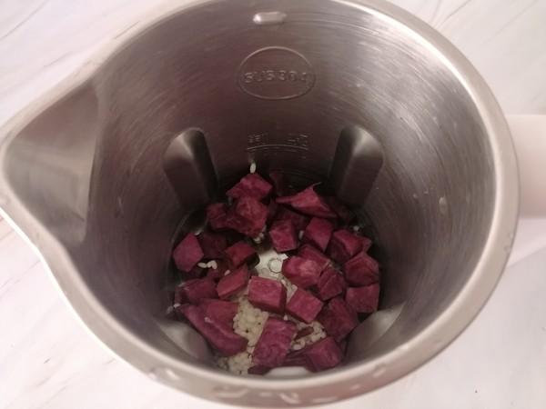 紫薯米糊的家常做法