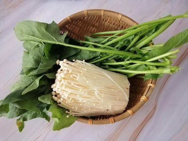菠菜拌金针菇的做法大全