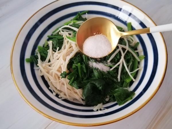 菠菜拌金针菇怎么吃