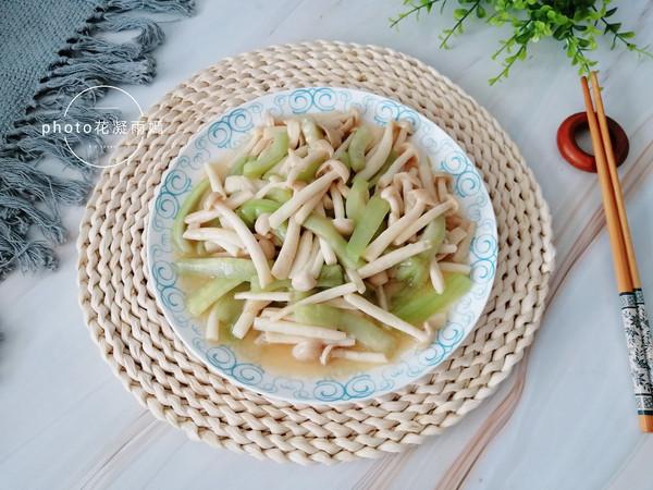 海鲜菇炒丝瓜怎么煮