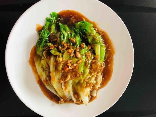 夏日减肥餐-蚝油生菜成品图