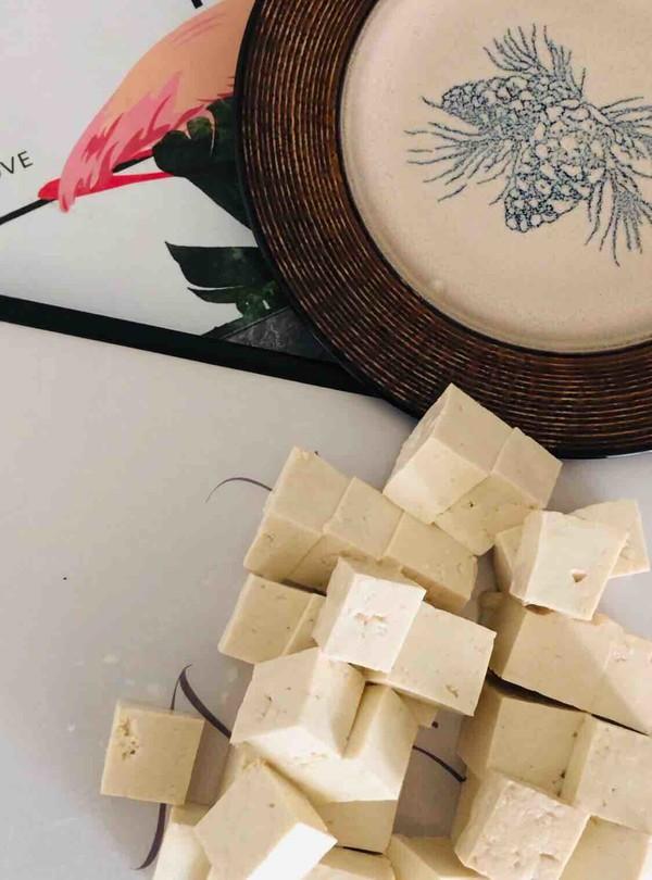 火锅生菜豆腐的步骤