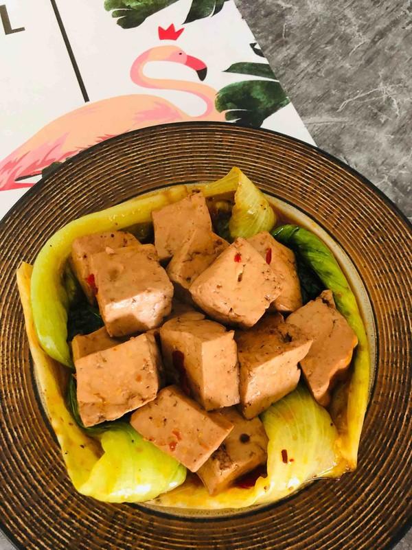 火锅生菜豆腐成品图
