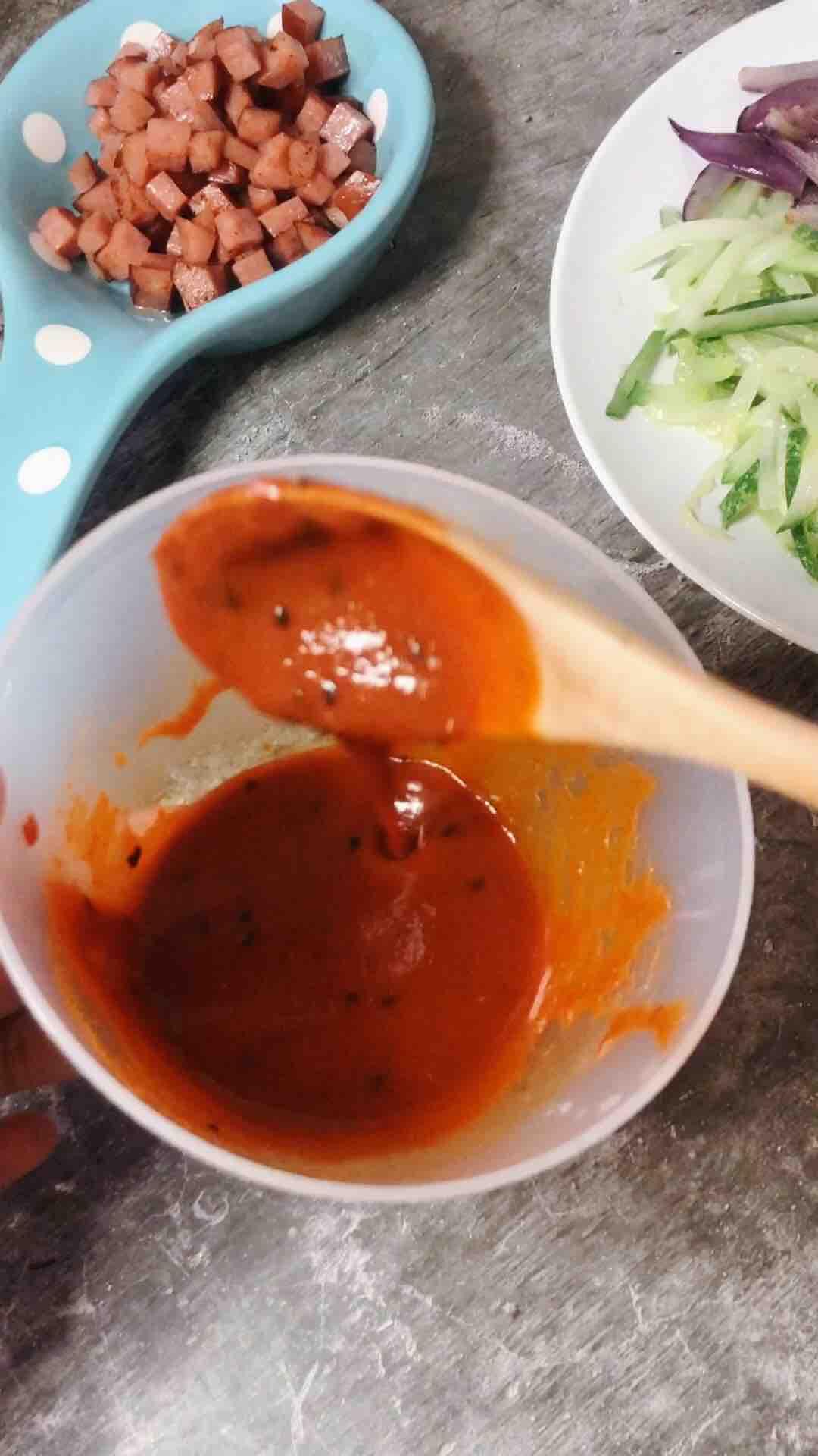 营养多谷米韩式拌饭怎么吃