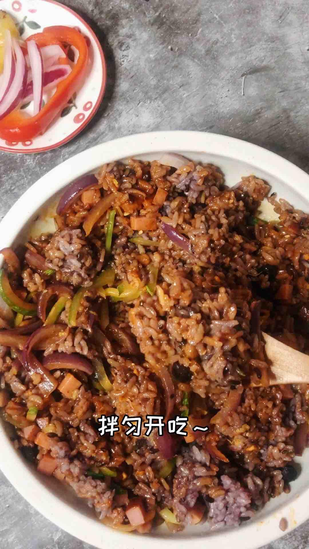营养多谷米韩式拌饭怎么煮